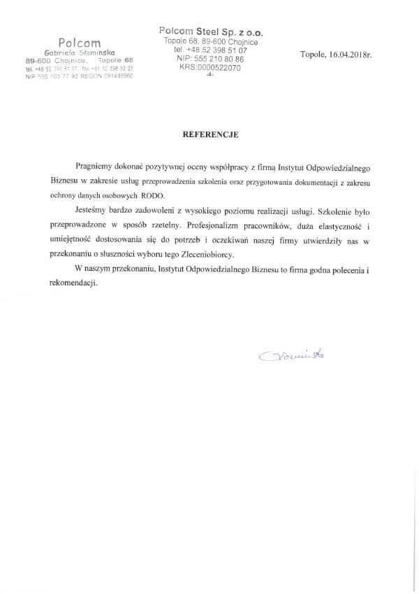 warsztaty IOD referencje polcom